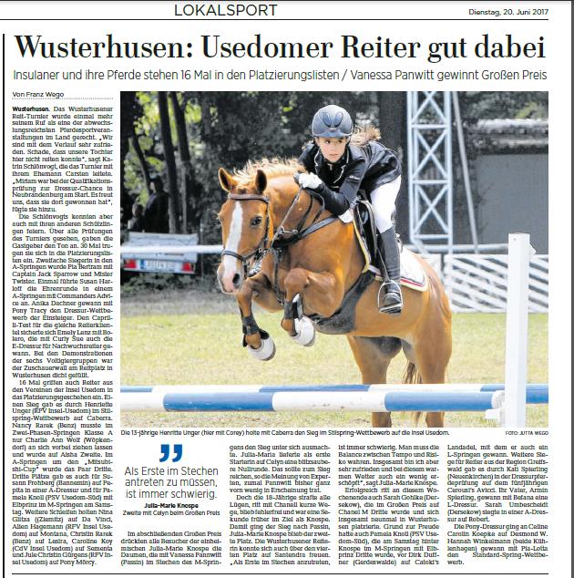 Ostsee-Zeitung 20.06.2017