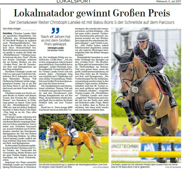 Ostsee-Zeitung 05.07.2017