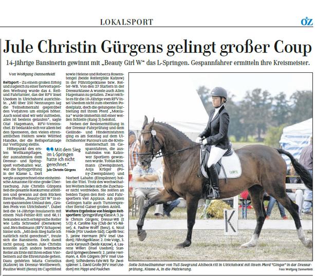 Ostsee-Zeitung 03.09.2013