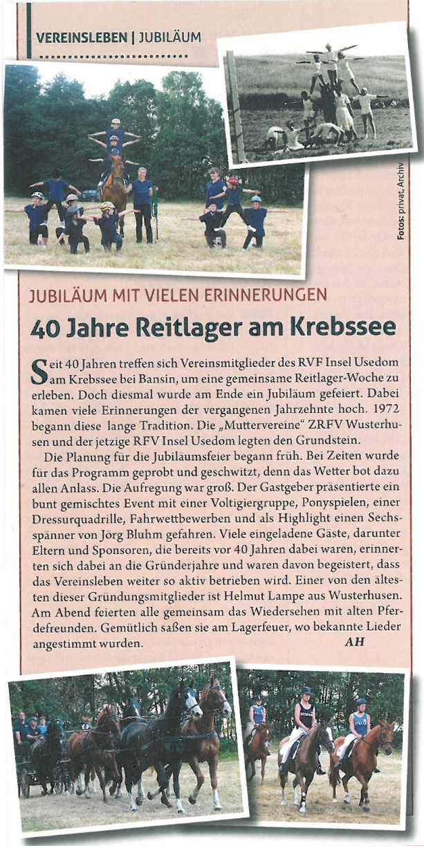 Artikel Mecklenburger Pferd 10/2012