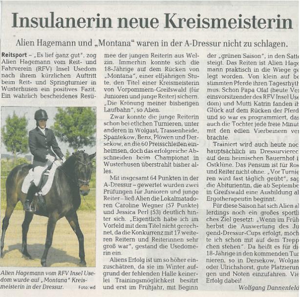 Ostsee-Zeitung 21.06.2013