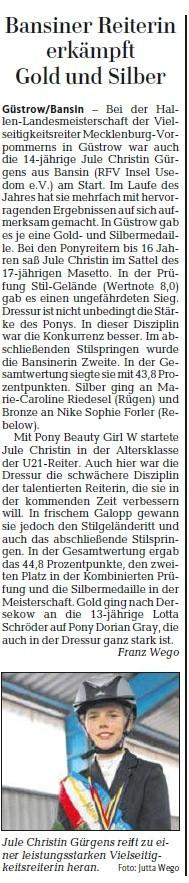 Ostsee-Zeitung 08.10.2013