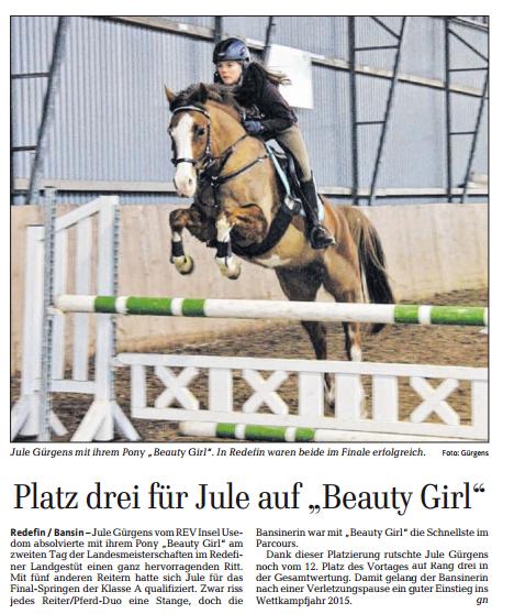 Ostsee-Zeitung 15.03.2017
