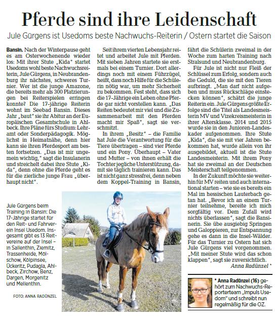 Ostsee-Zeitung 12.04.2017