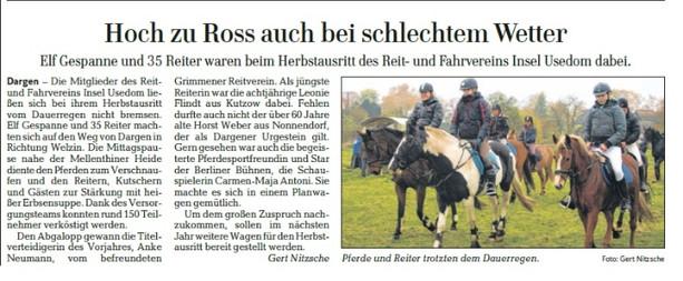 Ostsee-Zeitung 05.11.2013