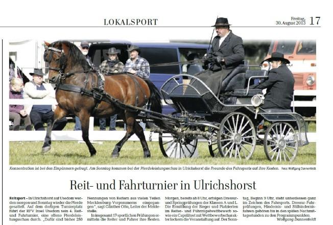 Ostsee-Zeitung 30.08.2013