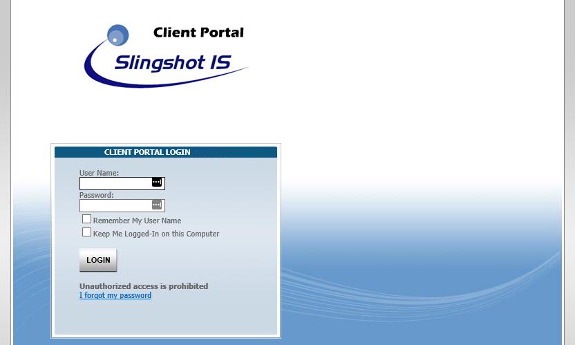 Client HelpDesk Portal Login