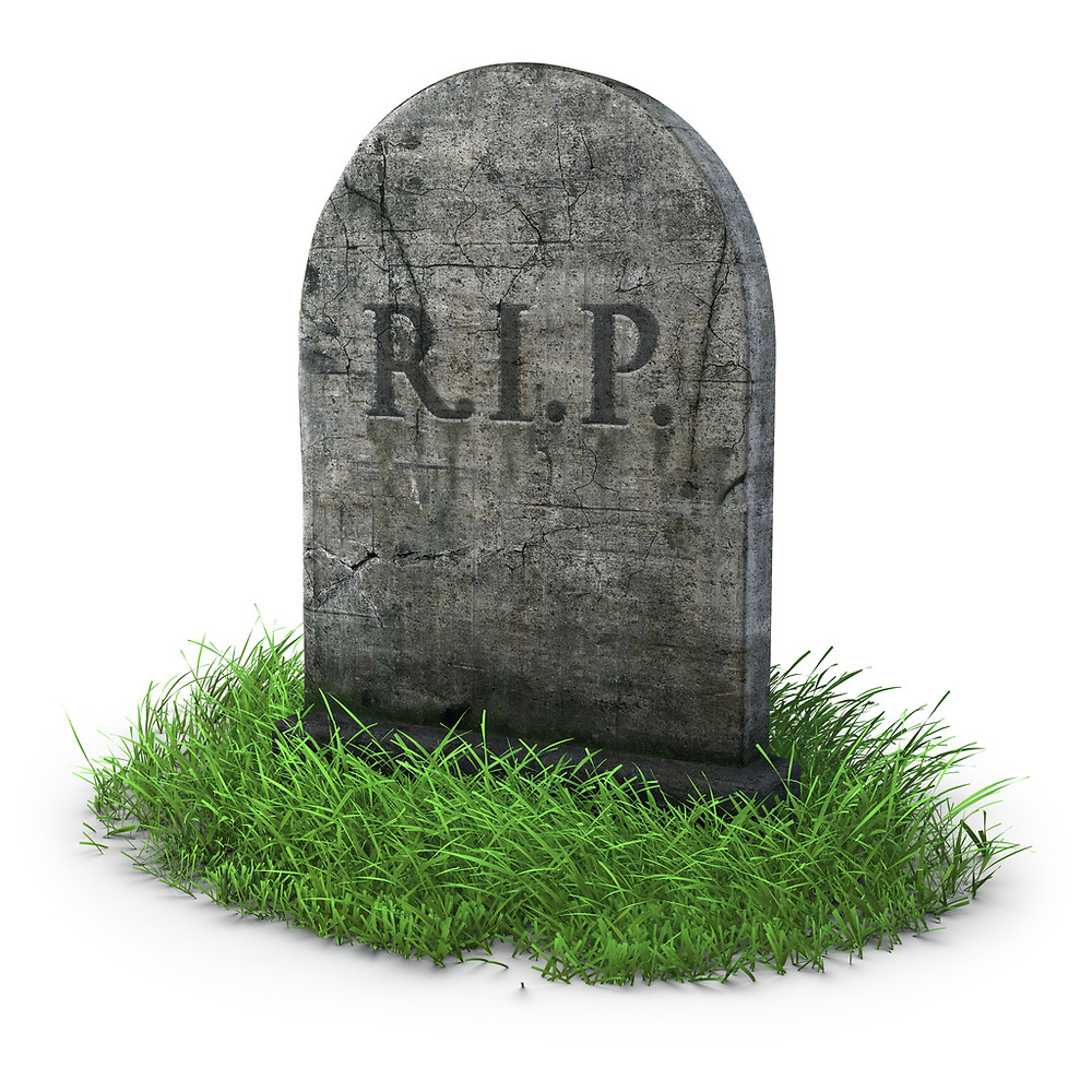 Tomb Stone old fashioned RIP