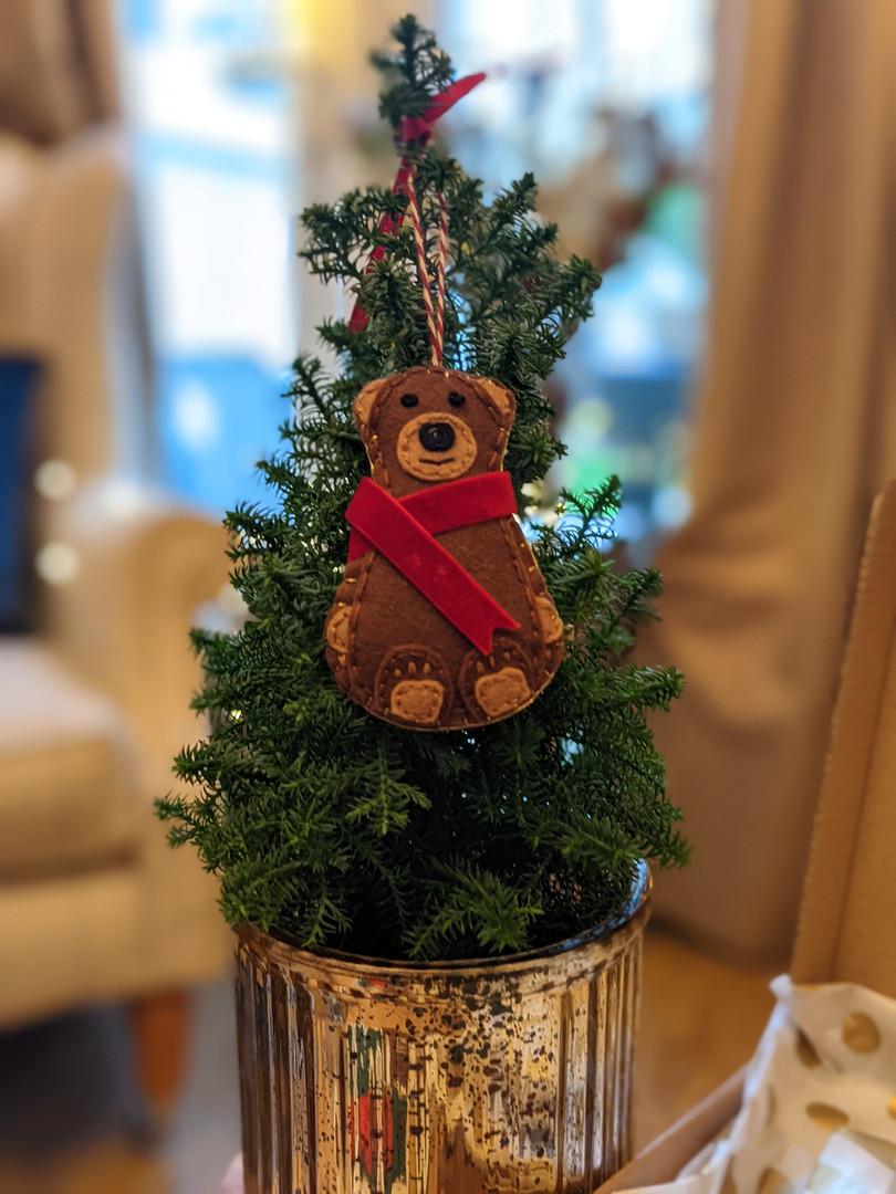 Christmas Bernie the Bear (Tree Decoration)