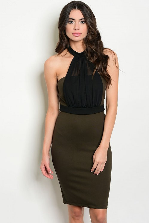 OLIVE BLACK DRESS