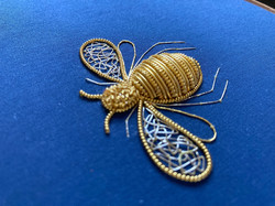 Mini real gold bee