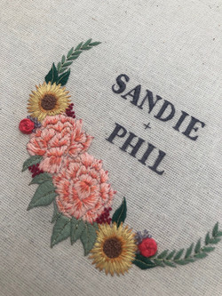 Sandie and Phil memory hoop