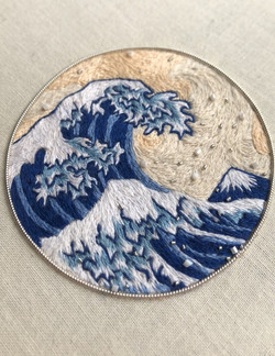 Japanese Inspired waves Broach