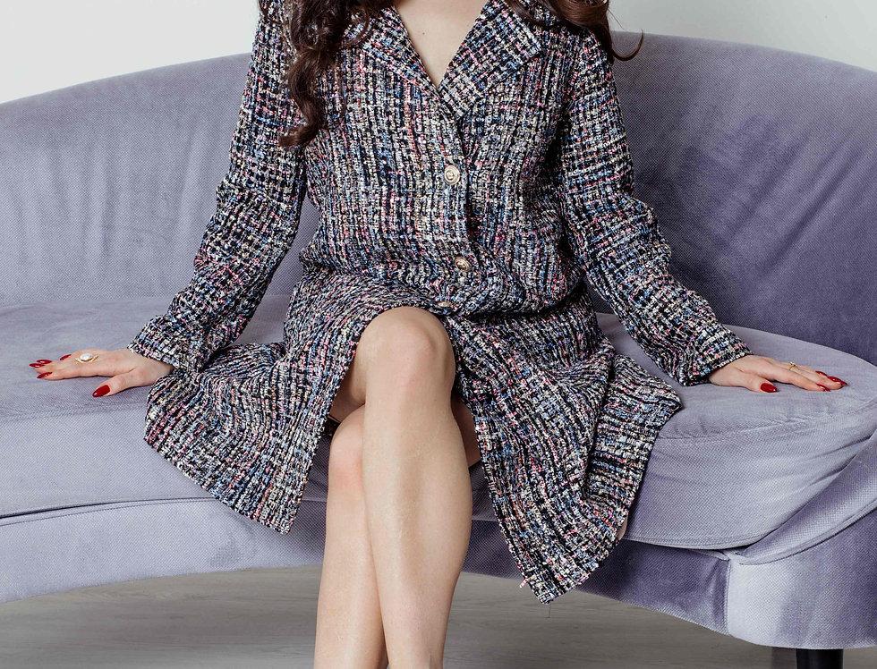 Tweed coat-jacket
