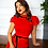 Thumbnail: Red lace dress