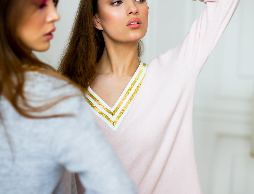 Pink Jersey Tracksuit Sweater