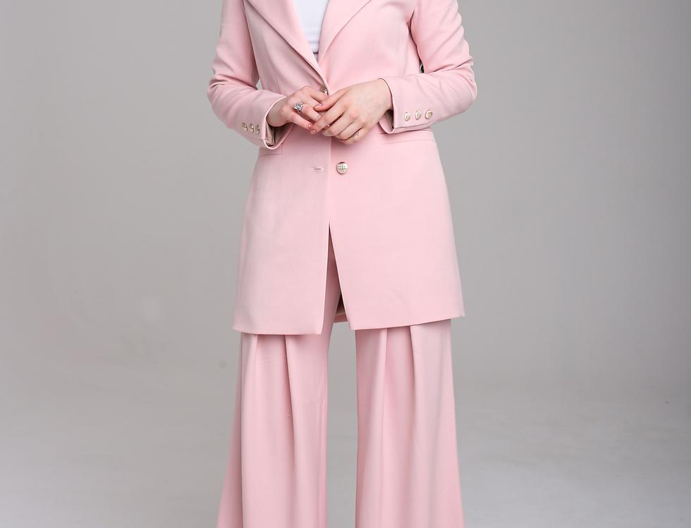 Baby pink palazzo pants