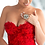 Thumbnail: Red corset dress with embroidery