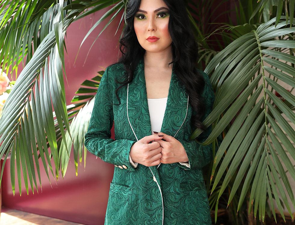 Green Jacquard suit