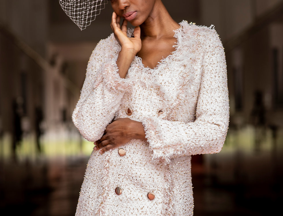 Double-breasted Tweed jacket-dress