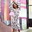 Thumbnail: Floral dress with puffed sleeves