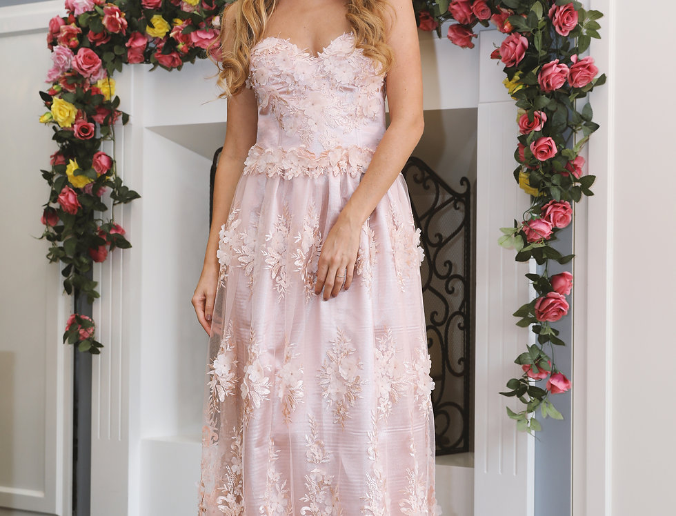 Pink floral gown