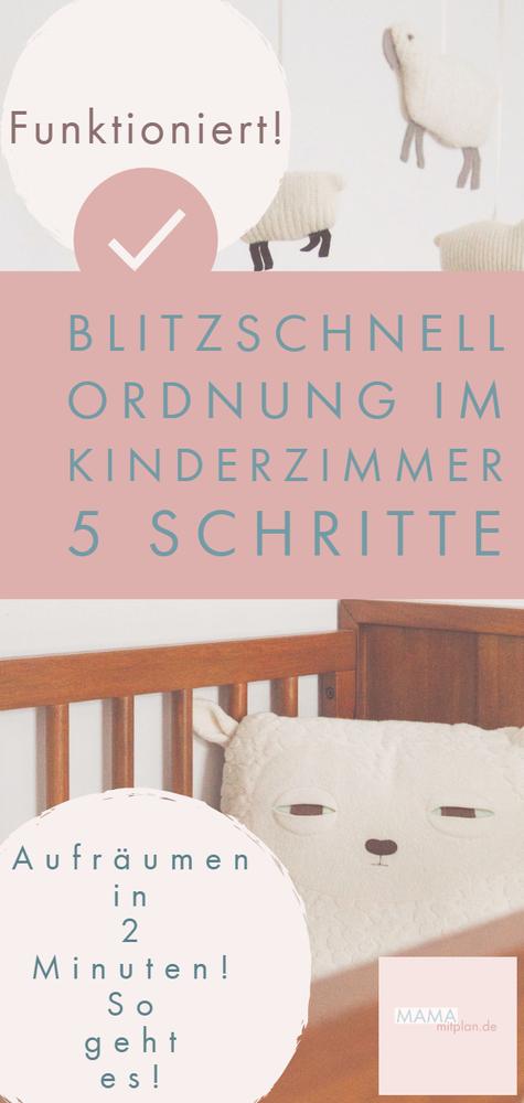Kinderzimmer aufräumen in 2 Minuten - So geht es!