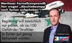Pressemitteilung zum Ende des Abschiebestopps nach Syrien