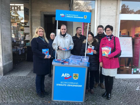 Standaktion in Steglitz-Zehlendorf