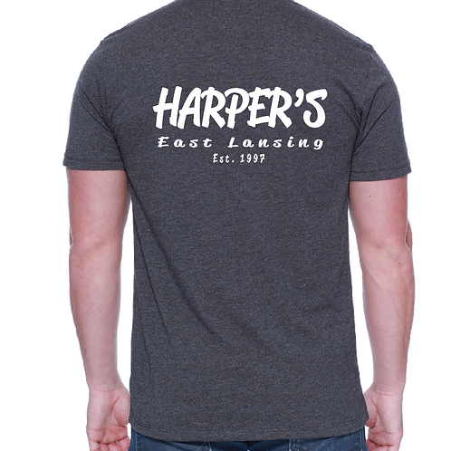 Harper's Grey Pocket Tee