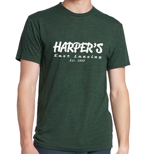 Harper's Green + White Tee