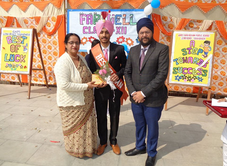 Farewell Party Organised At Guru Harkrishan Public School, Loni Road, Shahdara