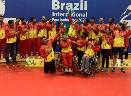 India won 11 medals at the Brazil Para-Badminton International Championships