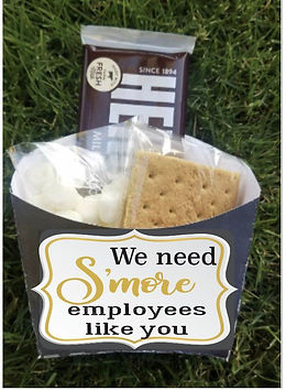 Personalized Smores boxes or bag toppers