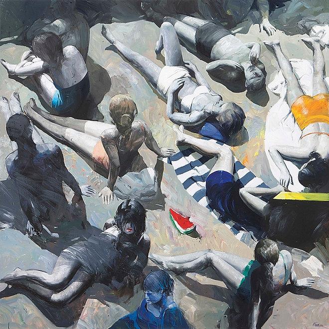 """Invito Mostra di Antonio Tamburro """"La pittura fotografa la vita"""" Sesto Senso Art Gallery"""
