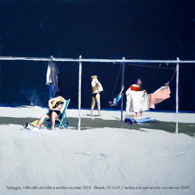 """Invito mostra""""Le spiagge di Antonio Tamburro"""" Sesto Senso Art Gallery"""