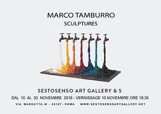 """Invito mostra Marco Tamburro """"Sculptures"""" Sesto Senso Art Gallery"""