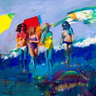 Donne in spiaggia