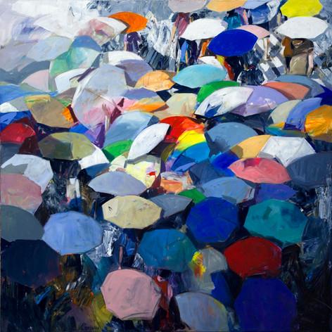 Rain of umbrellas