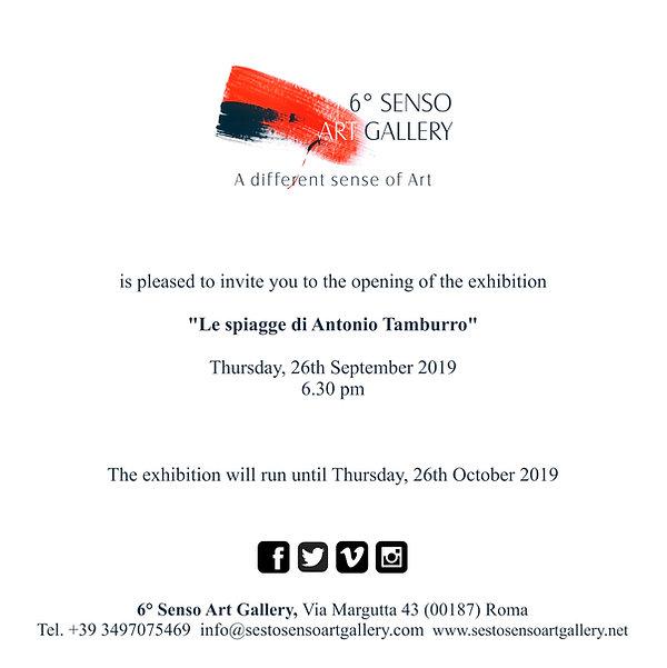 """Antonio Tamburro Exhibition """"Le spiagge di Antonio Tamburro"""" Sesto Senso Art Gallery"""