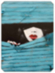 In the shadow, Street Art work reproduction on cotton paper textured by Antonio Tamburro, Sesto Senso Art Gallery