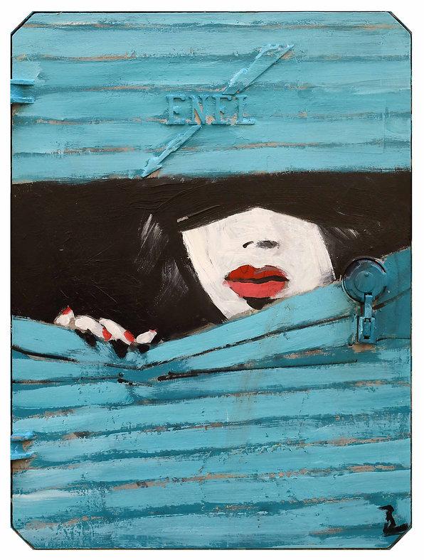 Nell'ombra - Street Art reproduction su carta di cotone puro, Antonio Tamburro, Sesto Senso Art Gallery