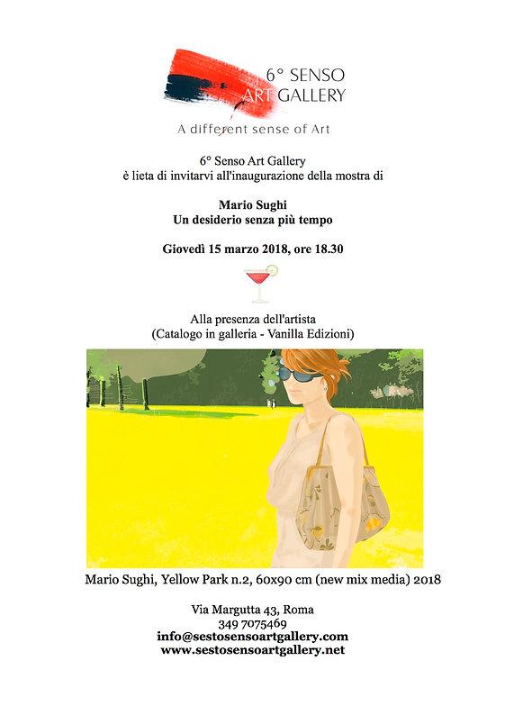 Mostra di Mario Sughi, Sesto Senso Art Gallery