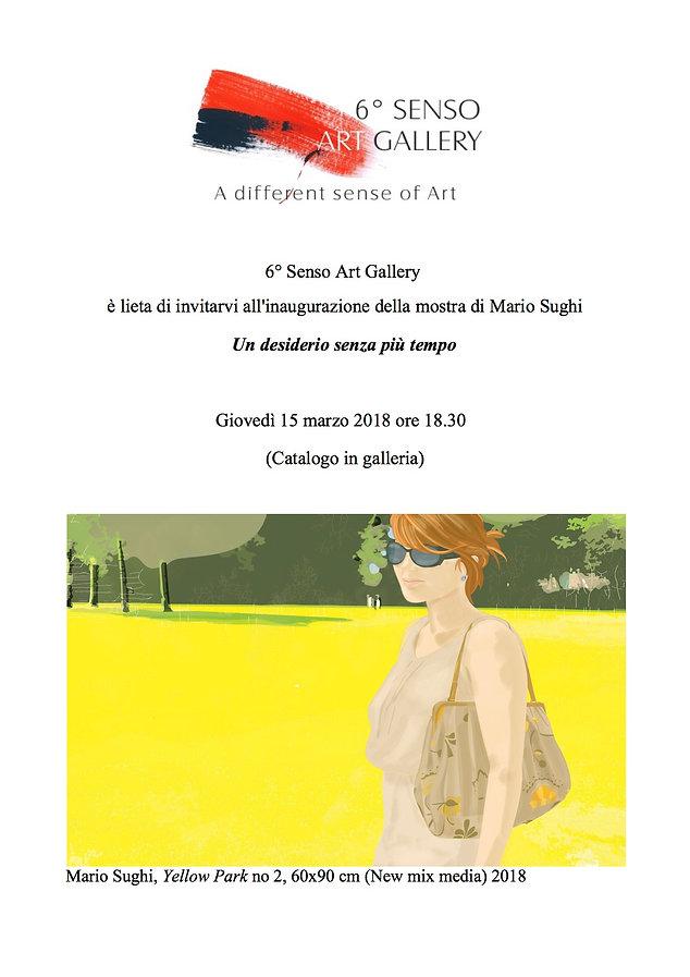 """Mostra personale di Mario Sughi """"Un desiderio senza più tempo"""", Sesto Senso Art Gallery"""