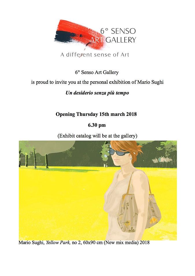 """Mostra di Mario Sughi """"Un desiderio senza più tempo"""" Sesto Senso Art Gallery"""