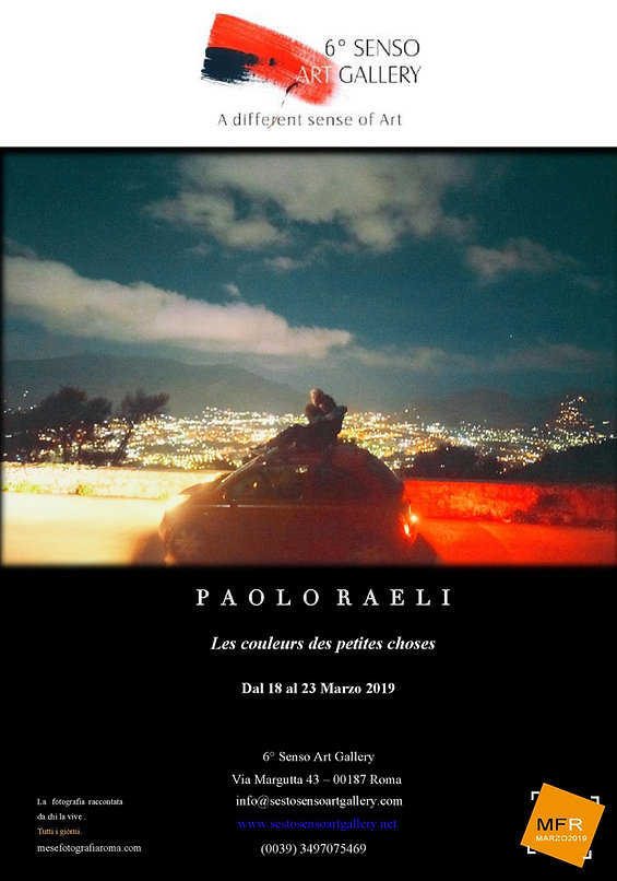 Mostra fotografica di Paolo Raeli, Sesto Senso Art Gallery