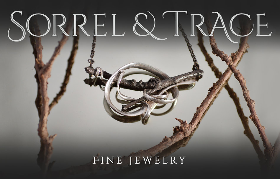 Sorrel & Trace Fine Jewelry - Handmade Sterling Silver Victoria Necklace Botanical Jewelry Art Jewelry