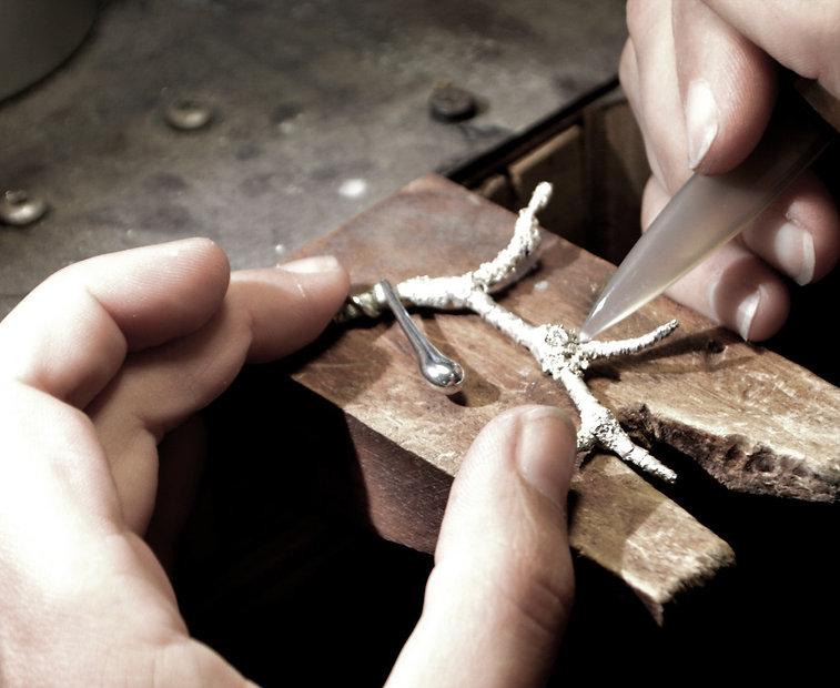 Sorrel & Trace Fine Jewelry - Handmade Botanical Jewelry - Process Image