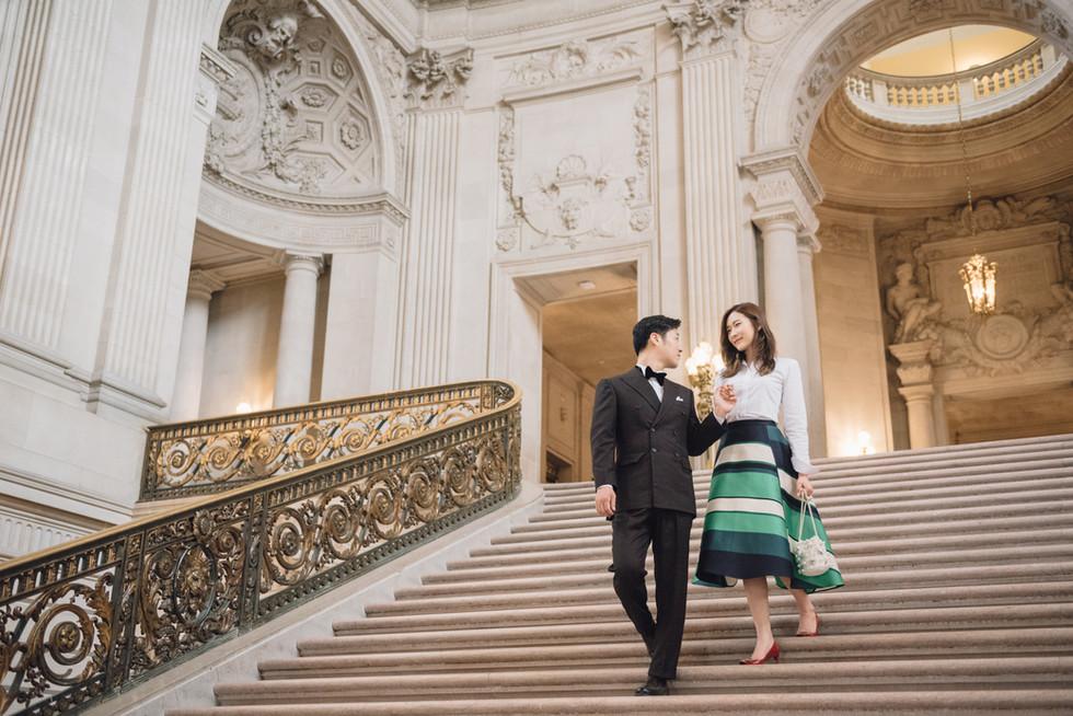 San Francisco City Hall Couple Photos