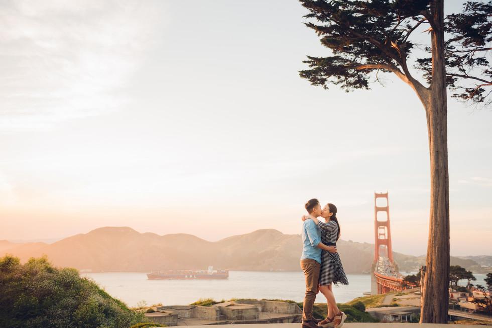 Golden Gate Bridge Couple photos